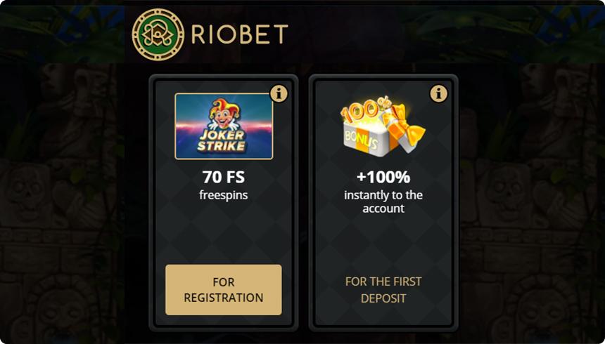 Riobet Casino Bonus.
